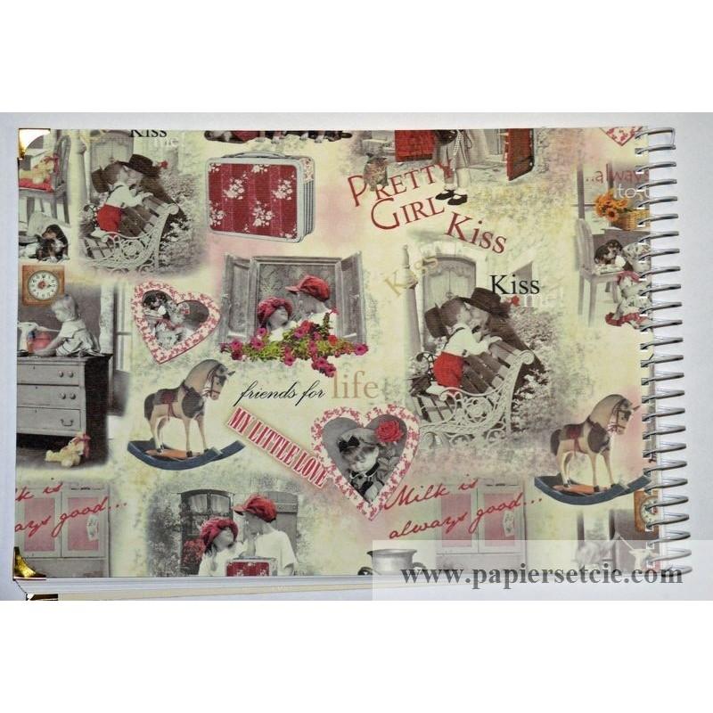 Grand album photos artisanal pour enfants petit boy petite girl - Album photo pour enfant ...